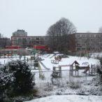 Speeltuin in de sneeuw